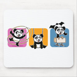 Mousepad with Gymnastics Pandas design
