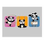 Gymnastics Pandas Postcard