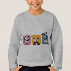 Kids' American Apparel Organic T-Shirt with Gymnastics Pandas design