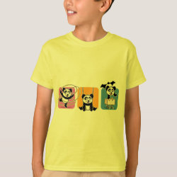 Kids' Hanes TAGLESS® T-Shirt with Gymnastics Pandas design