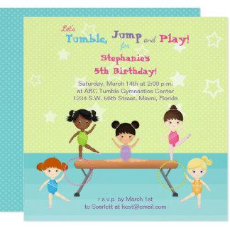 Gymnastics Party Card