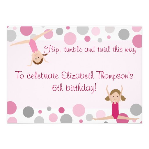 Personalized Gym party Invitations – Gymnastics Party Invitation