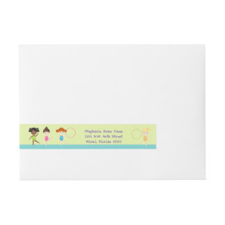 Gymnastics Party Wrap Around Address Label