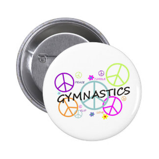 Gymnastics Peace Signs 2 Inch Round Button