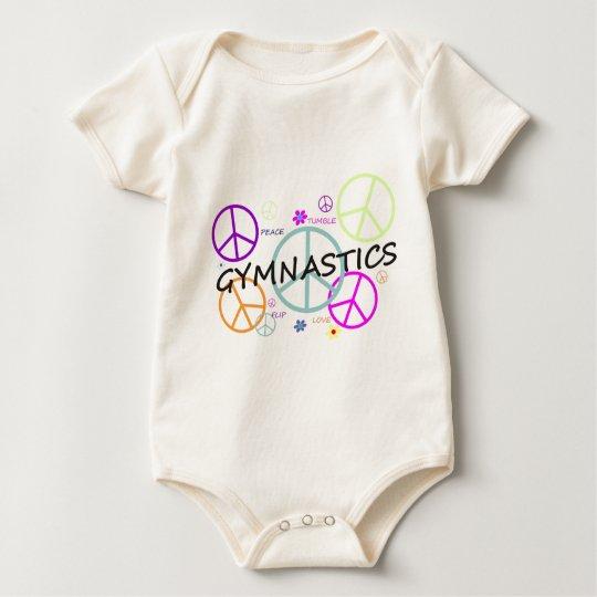 Gymnastics Peace Signs Baby Bodysuit