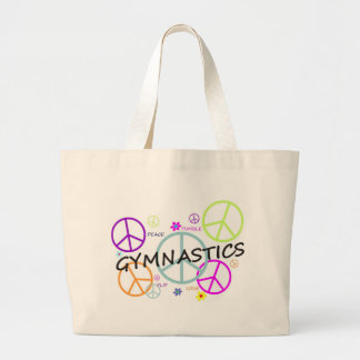 Gymnastics Peace Signs Tote Bags