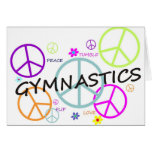 Gymnastics Peace Signs Greeting Card