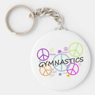 Gymnastics Peace Signs Keychain