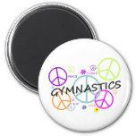 Gymnastics Peace Signs Refrigerator Magnet
