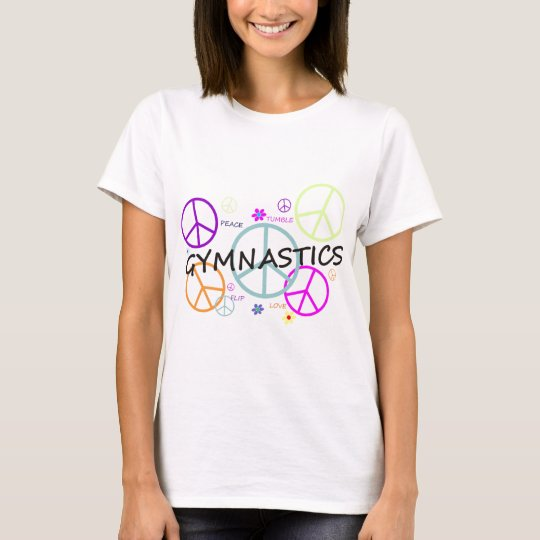 Gymnastics Peace Signs T-Shirt