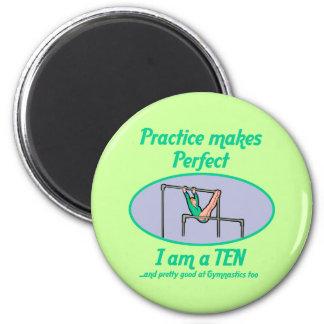 Gymnastics Perfect 10 2 Inch Round Magnet