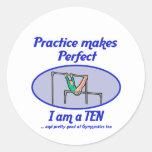 Gymnastics Perfect 10 Round Sticker