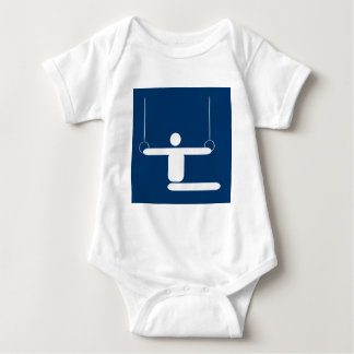 Gymnastics Pictogram Baby Bodysuit