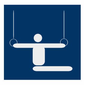 Gymnastics Pictogram Photo Cut Out