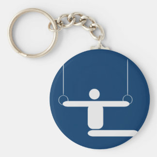 gymnastics_pictogram_Vector_Clipart SPORTS Basic Round Button Keychain