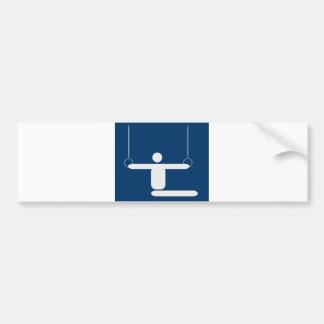 gymnastics_pictogram_Vector_Clipart SPORTS Bumper Sticker