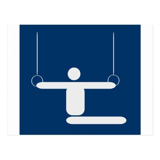 gymnastics_pictogram_Vector_Clipart SPORTS Postcard