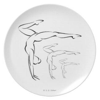 Gymnastics Dinner Plate