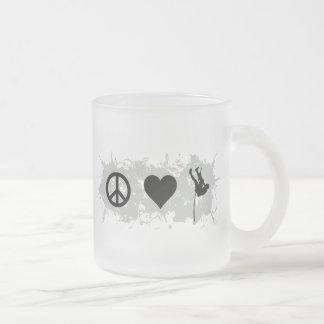 Gymnastics (Pole vault) Frosted Glass Coffee Mug