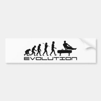 Gymnastics Pommel Horse Sport Evolution Art Bumper Sticker