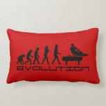 Gymnastics Pommel Horse Sport Evolution Art Throw Pillow