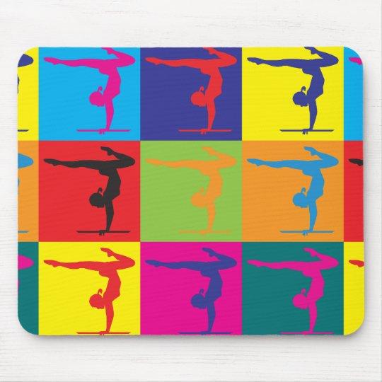 Gymnastics Pop Art Mouse Pad