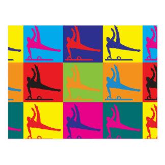 Gymnastics Pop Art Postcards
