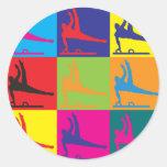 Gymnastics Pop Art Stickers