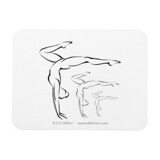Gymnastics Rectangular Photo Magnet