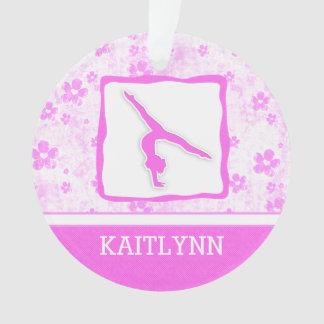 Gymnastics Pretty in Pink Floral Ornament