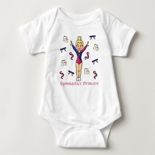 Gymnastics Princess Baby Bodysuit