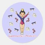Gymnastics Princess Sticker