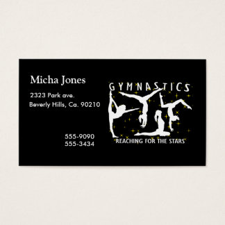 Gymnastics Reaching For The Stars Business Card