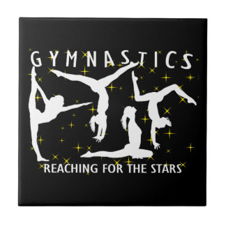 Gymnastics Reaching For The Stars Ceramic Tile