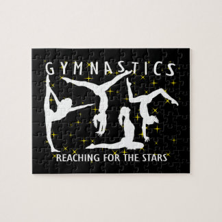 Gymnastics Reaching For The Stars Jigsaw Puzzle
