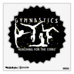 Gymnastics Reaching For The Stars Wall Graphics