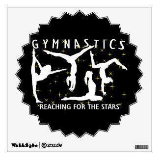 Gymnastics Reaching For The Stars Wall Sticker
