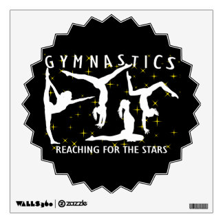 Gymnastics Reaching For The Stars Room Stickers