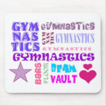 Gymnastics Repeating Mouse Pads