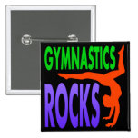 Gymnastics Rocks 2 Inch Square Button