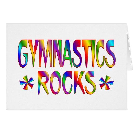 GYMNASTICS ROCKS CARD