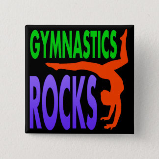 Gymnastics Rocks Pinback Button