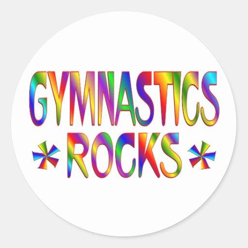 GYMNASTICS ROCKS STICKER