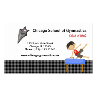Gymnastics School (Black) Double-Sided Standard Business Cards (Pack Of 100)