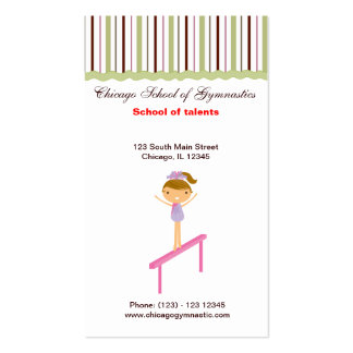 Gymnastics School Double-Sided Standard Business Cards (Pack Of 100)