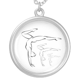 Gymnastics Silver Plated Necklace