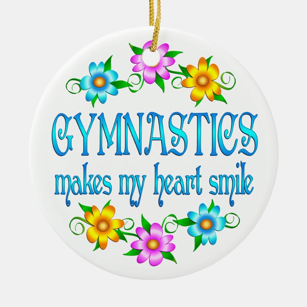 Gymnastics Smiles Christmas Ornaments