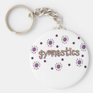 Gymnastics solar dots keychain