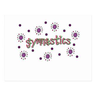 Gymnastics solar dots postcard