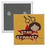 GYMNASTICS - Star Gymnast Tshirts and Gift Pinback Buttons